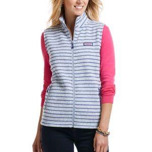 Vineyard Vines fleece stripe vest sz xxs
